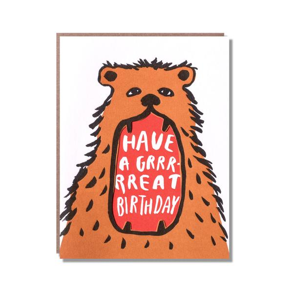 Bear Mouth Birthday Card