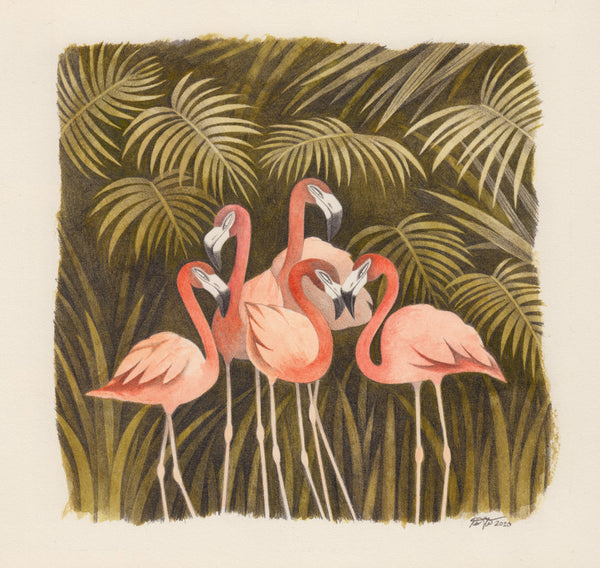 Kim Slate - Five Flamingos