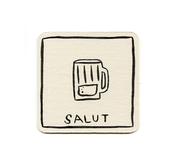 Alex Despain - Salut Beer Mug Coaster