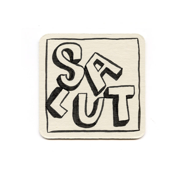 Alex Despain - Salut large letters Coaster