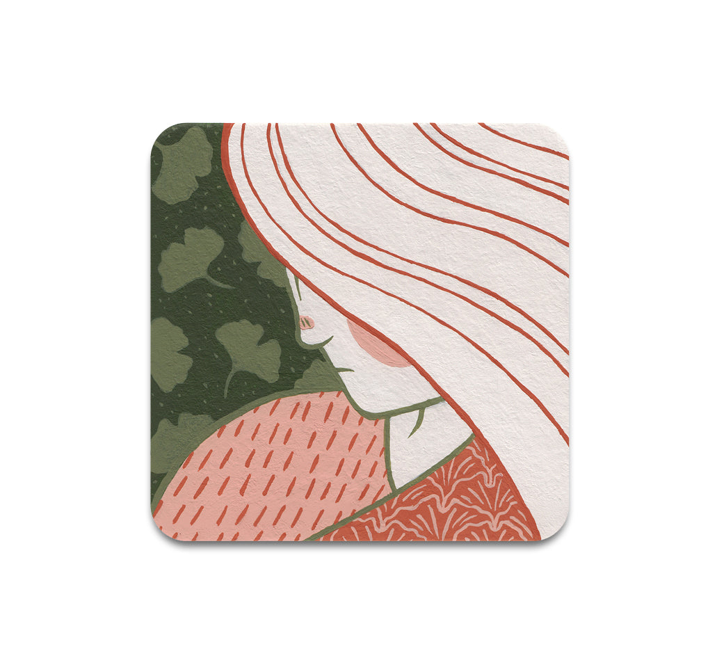 Alex Gold - Ginkgo Gal Coaster