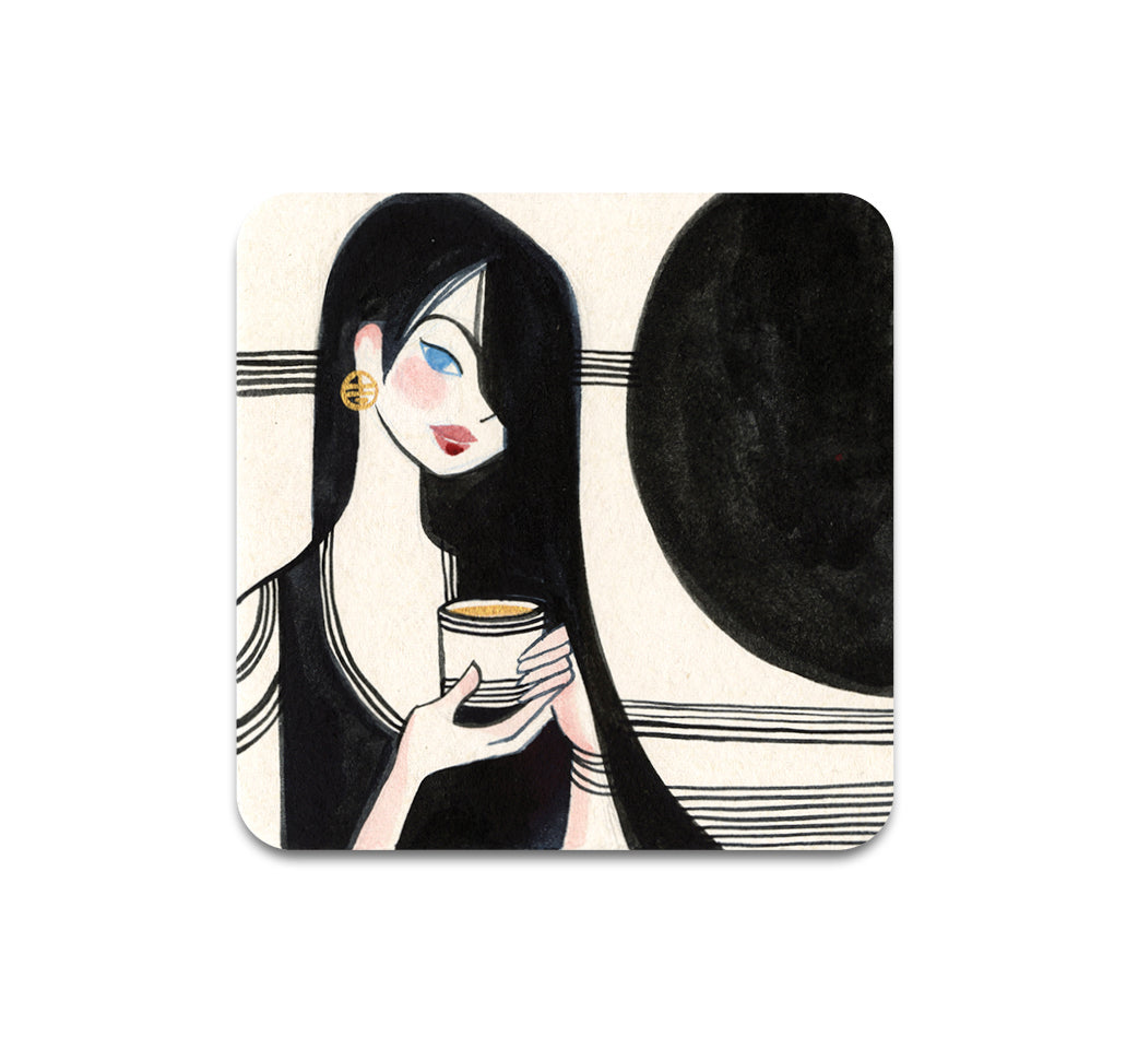 Alina Chau - Dark Coffee Coaster