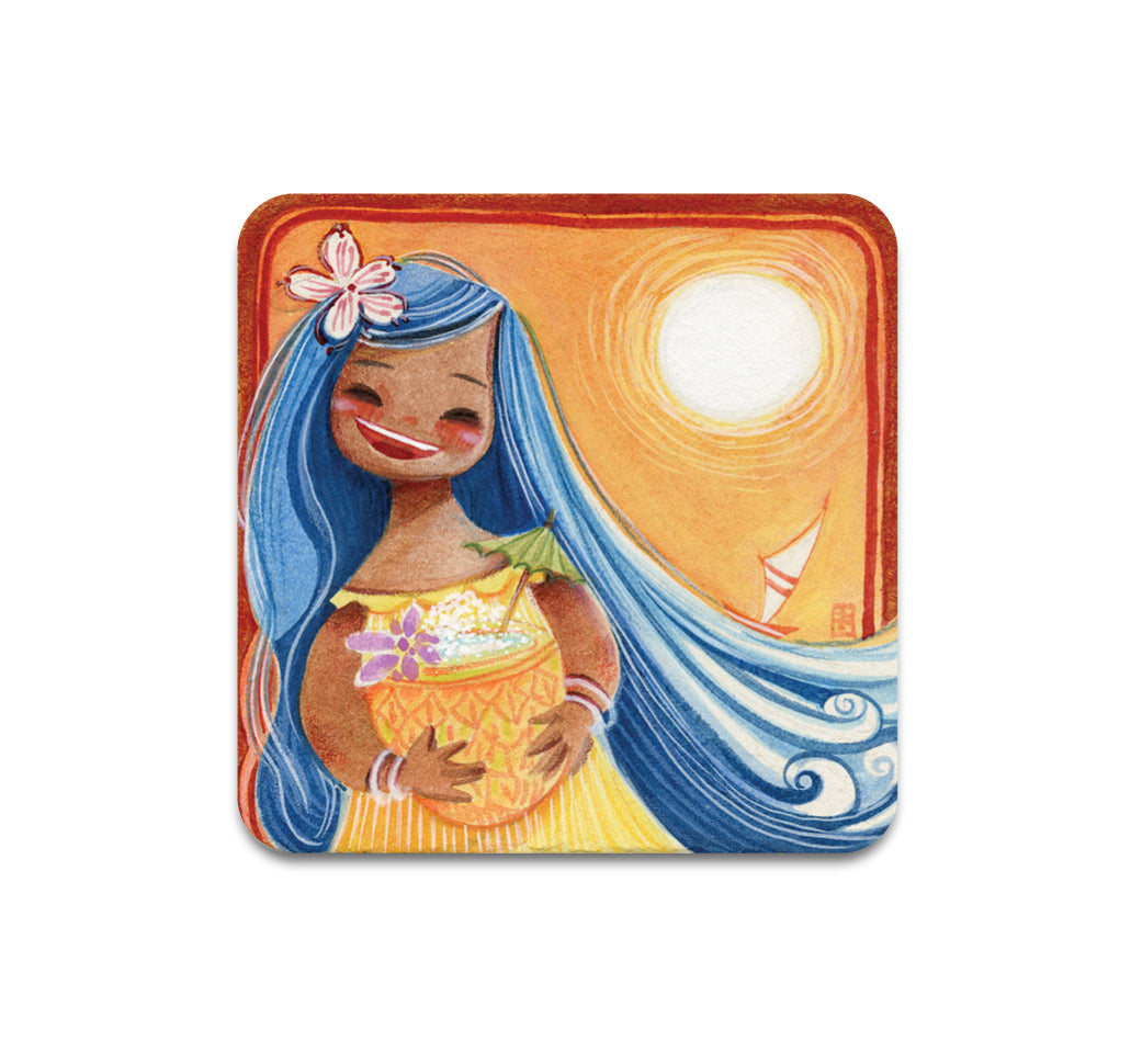 S3 Alina Chau - Pineapple Shave Ice Coaster
