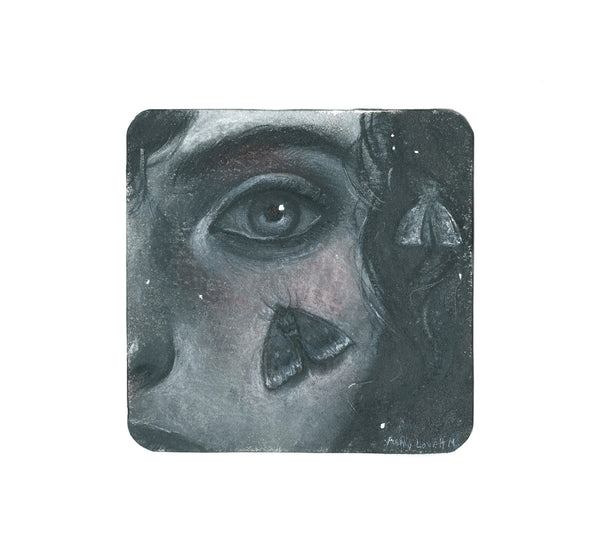 S1 Ashly Lovett - Moth Mother  Coaster