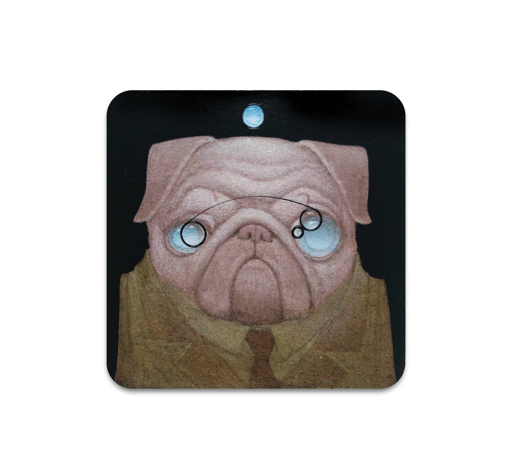 Bill Carman - Pug Eyes Coaster