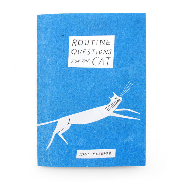 Routine Questions For The Cat Zine by Kaye Blegvad