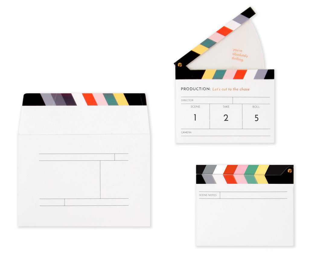 Clapperboard Card
