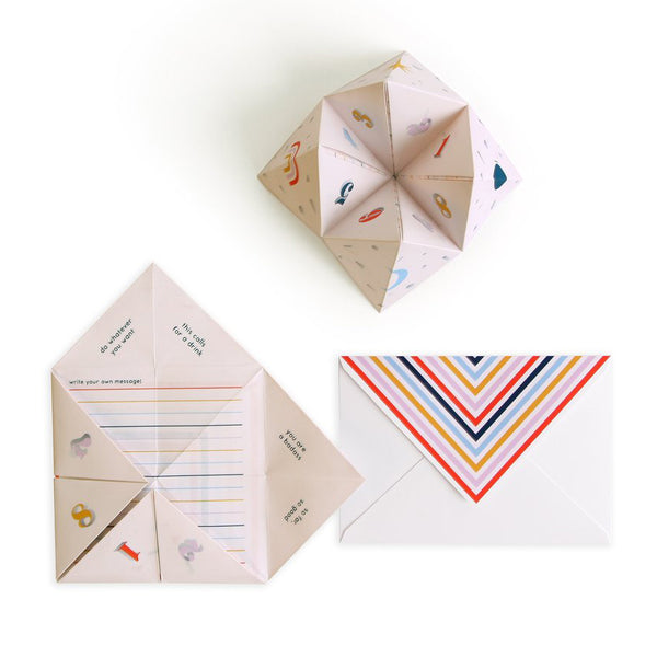 Cootie Catcher Card