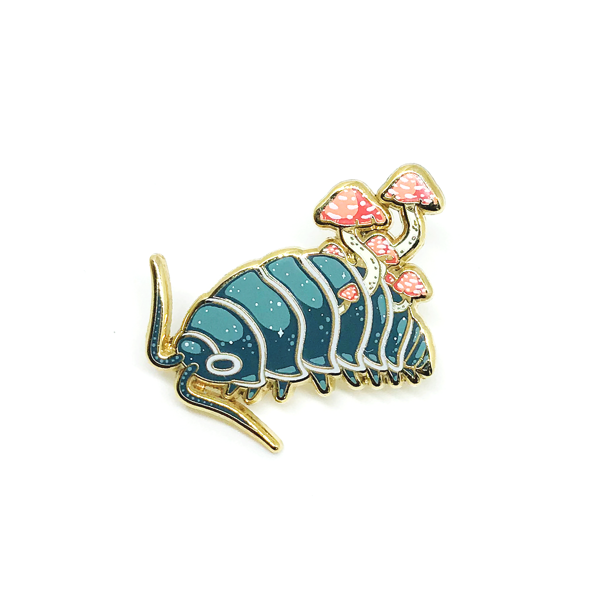Faunwood - Isopod (Blue & Gold) Pin