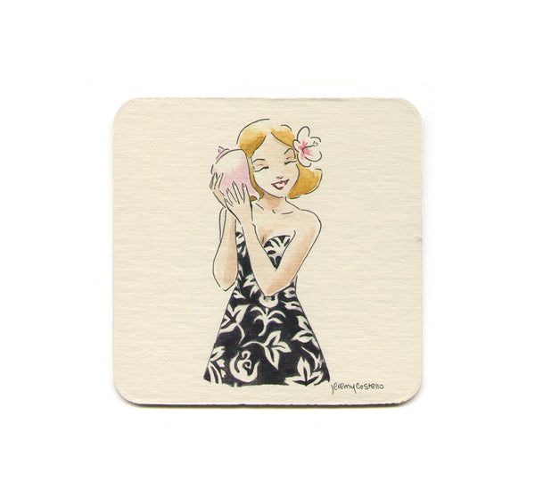 S1 Jeremy Costello - Blonde Seashell Coaster