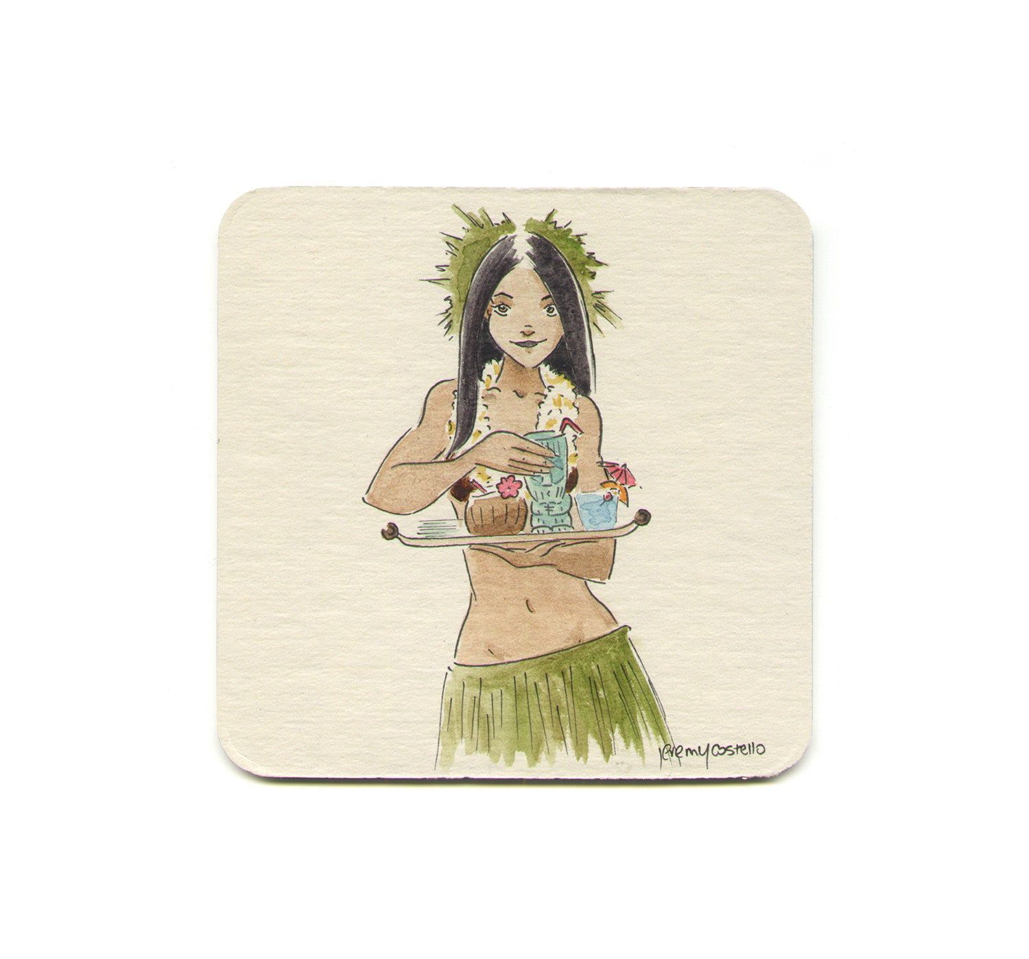S1 Jeremy Costello - Tiki Temptress Coaster