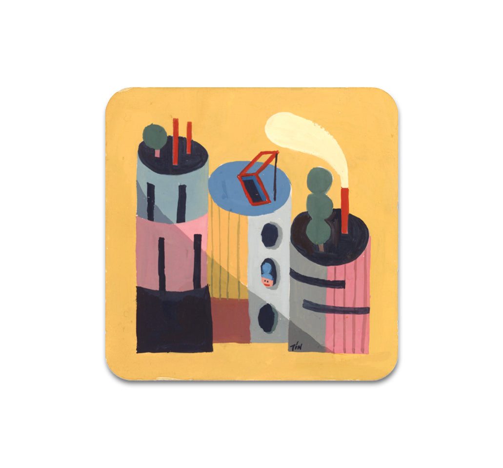 Lia Tin - Dwelling 3 Coaster