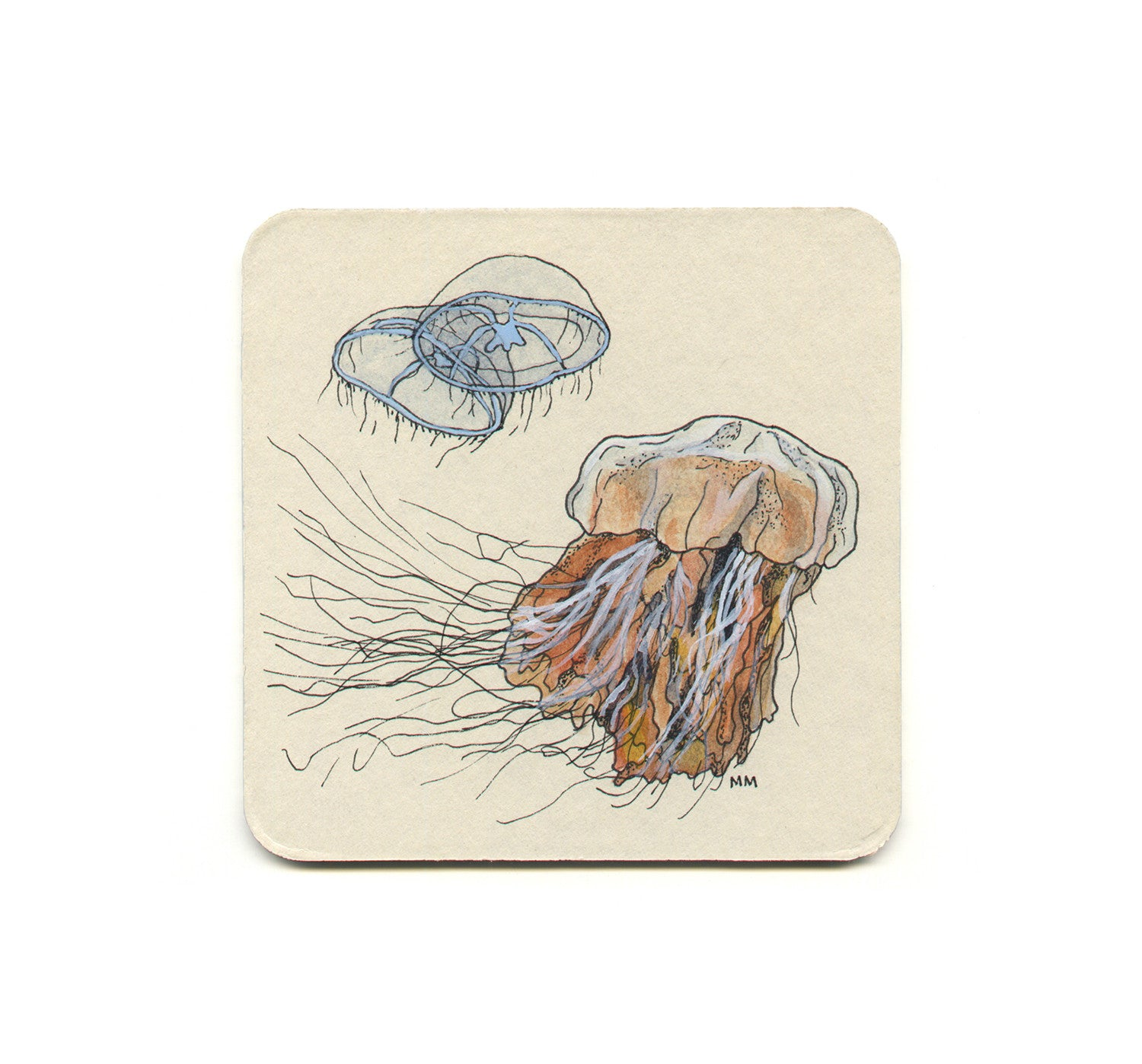S1 Madison Erin Mayfield - Cross Jellyfish & Lion's Mane Jellyfish Coaster