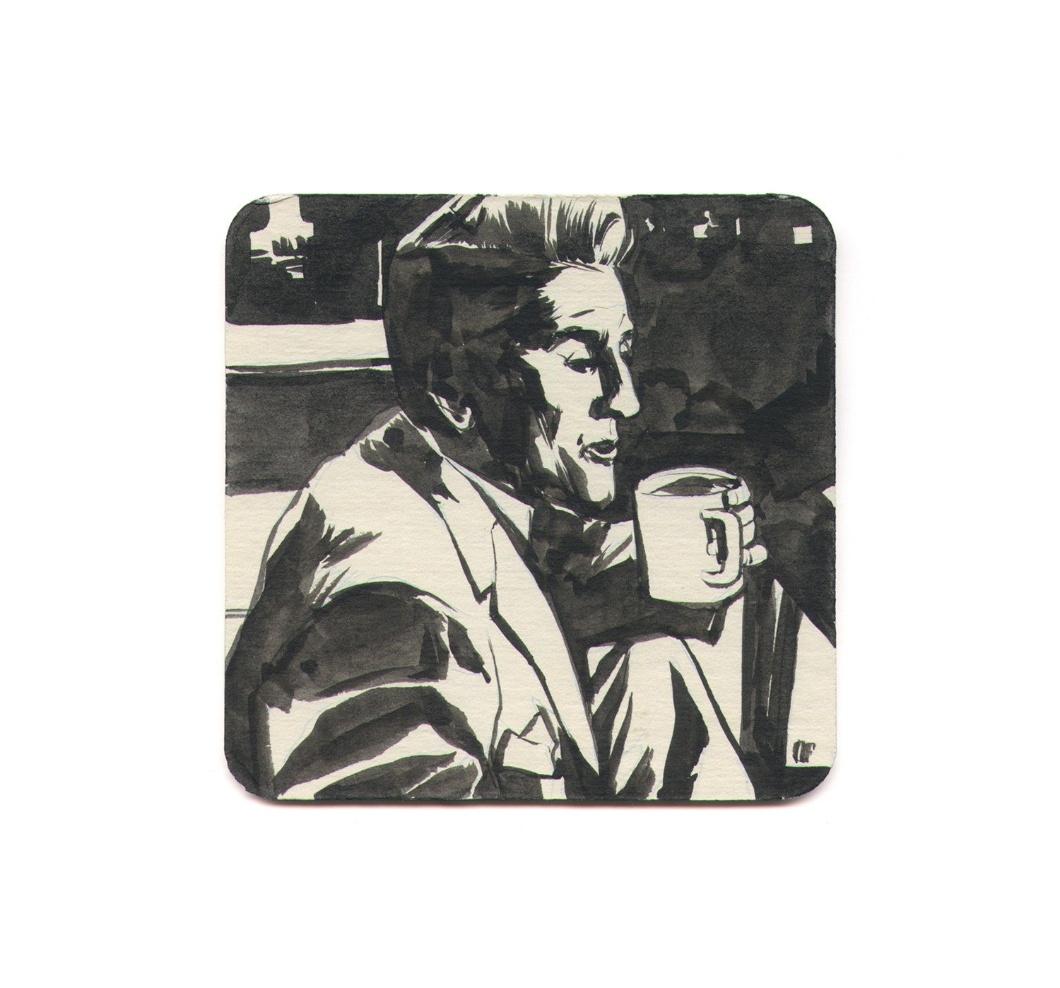 Owen Freeman - Flat White Coaster