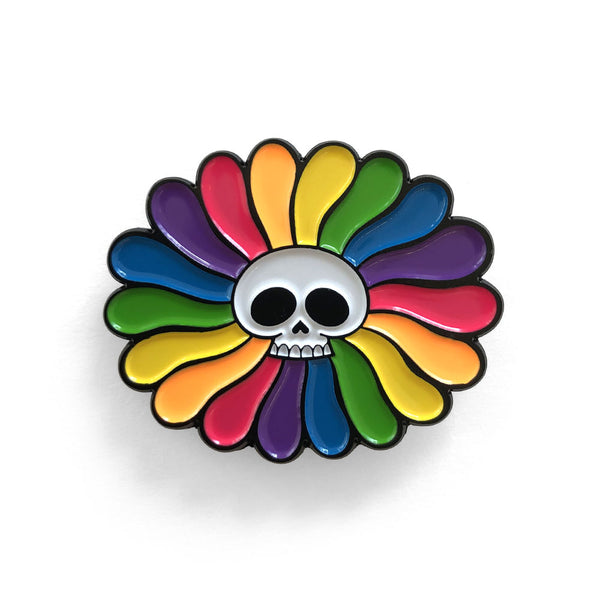 Oliver Hibert - Skull Flower Pin