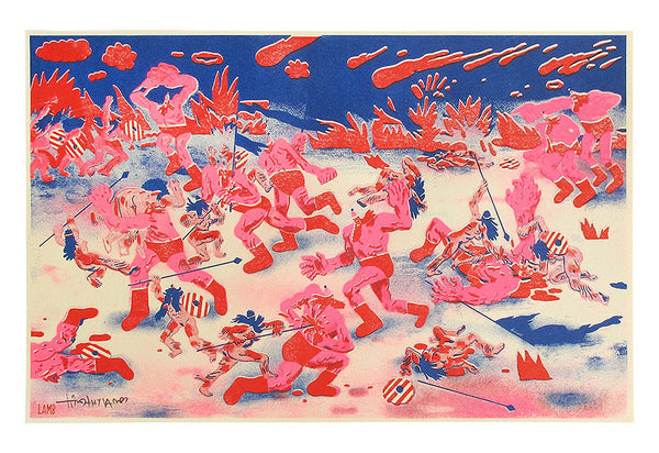 Timothy Lamb - The Amazon War Risograph Print