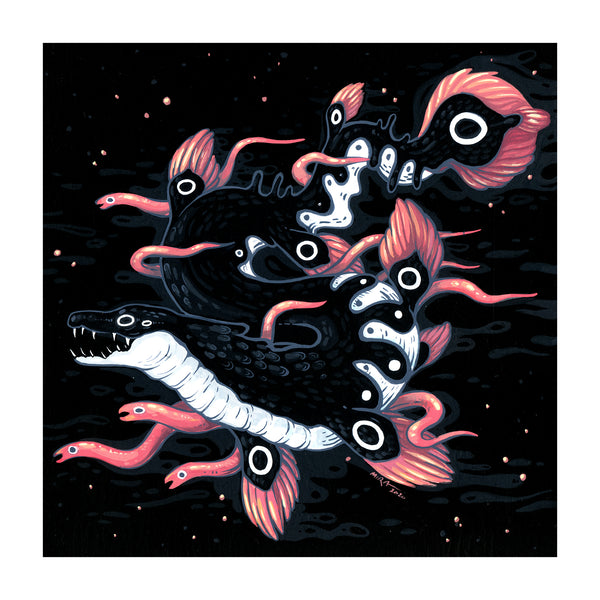 Faunwood - Sea Serpent Print