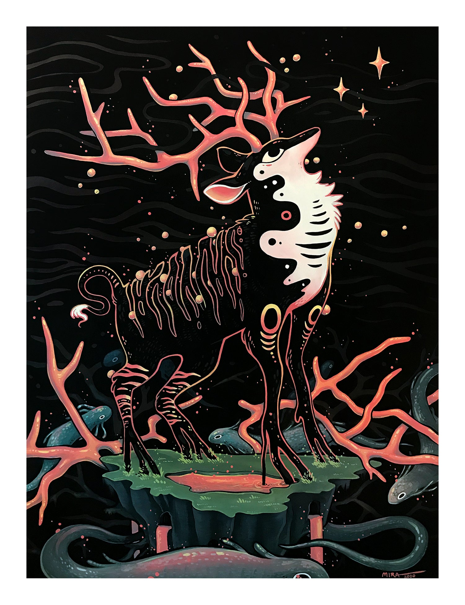 Faunwood - Wishing Well Print