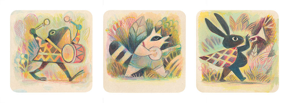 Matt Forsythe - Frog, Raccoon, Rabbit Prints (3 pc. Set)