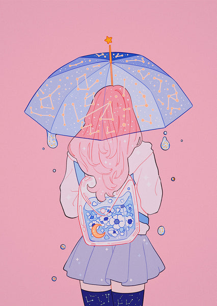 Meyoco - Star Umbrella Print
