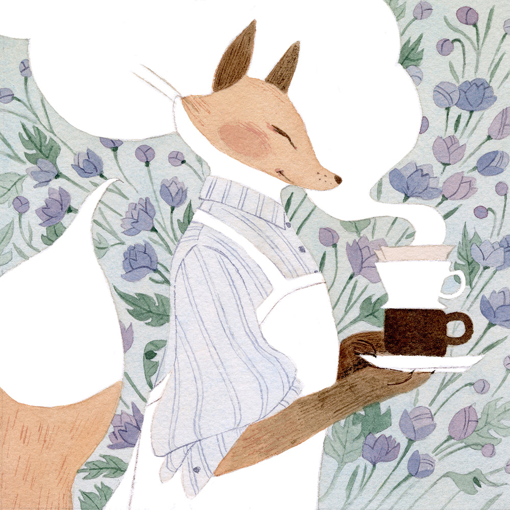 Vanessa Gillings - Caffeinated Critters: Fox Print