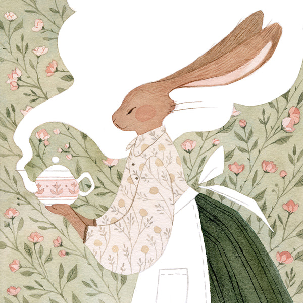 Vanessa Gillings - Caffeinated Critters: Bunny Print