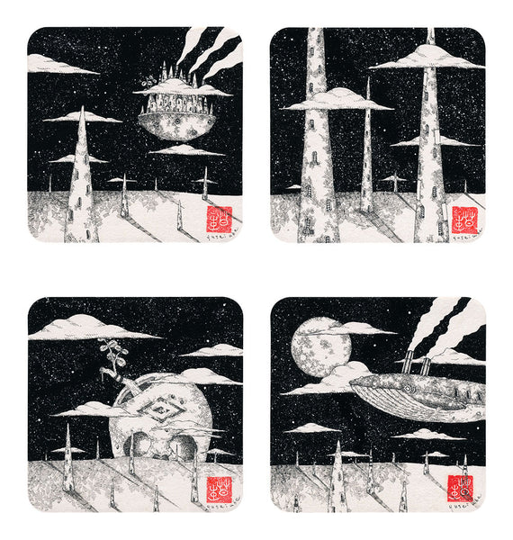 Yusei Abe - In Between Night Clouds Prints (4 pc. Set)