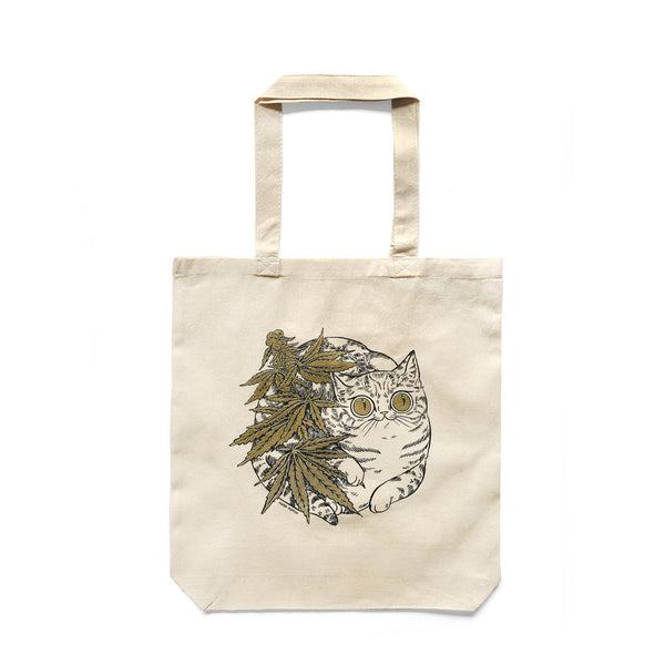 Paper Puffin - Cannabis Cat Tote