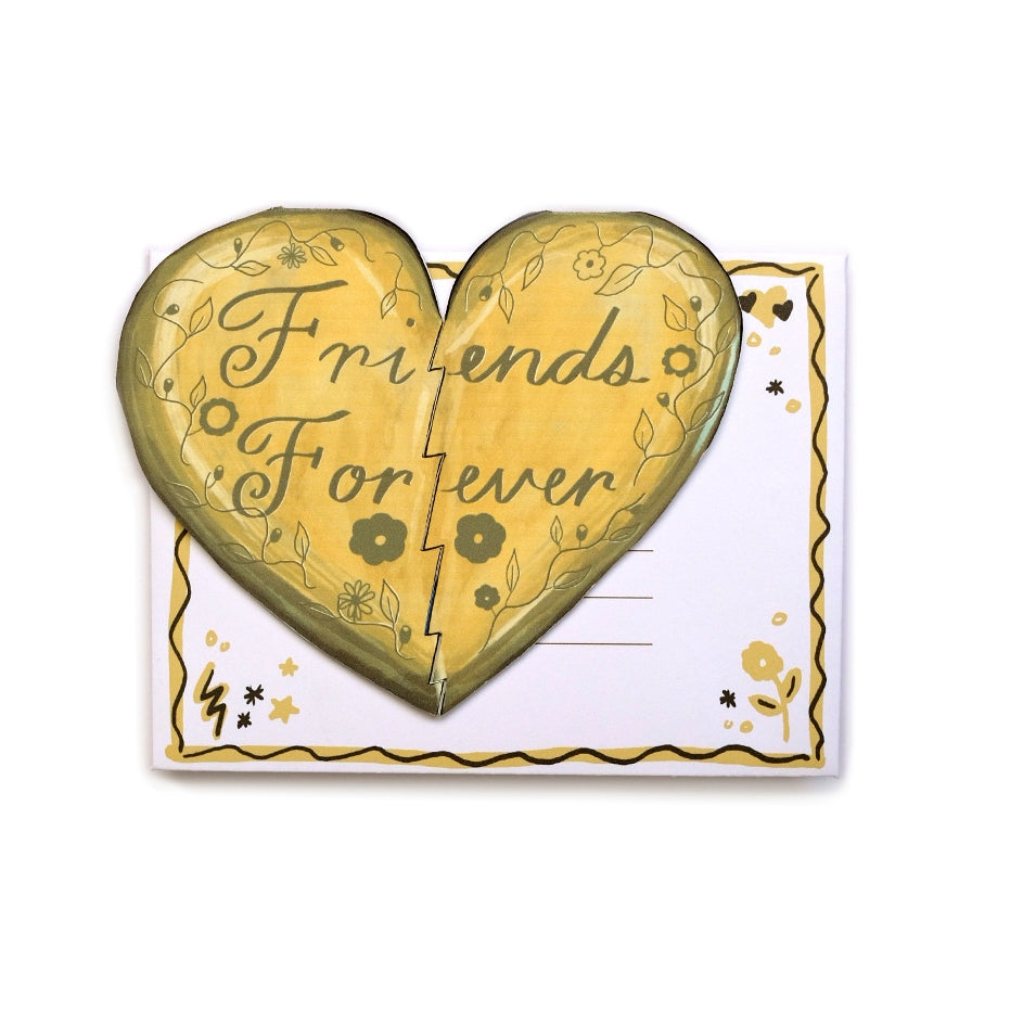 Friends Forever Die Hear Die Cut Card