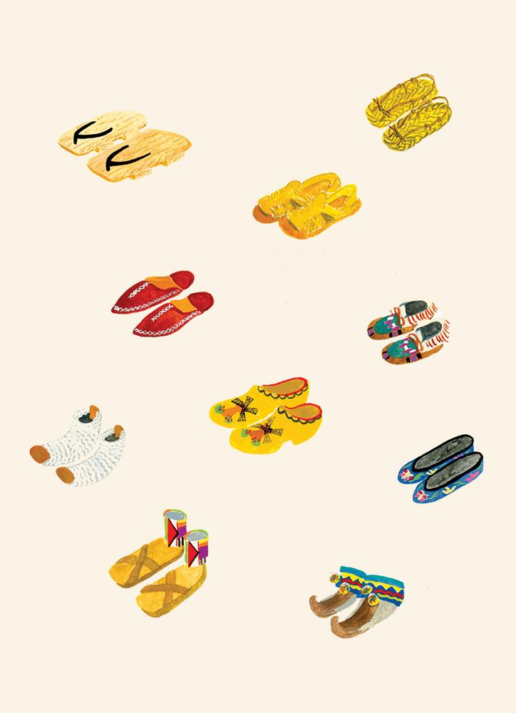 Keiko Brodeur - Shoes of the World Print