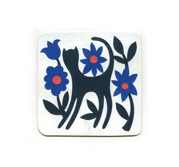 S1 Timothy Karpinski Jr. - Folk Cat Coaster