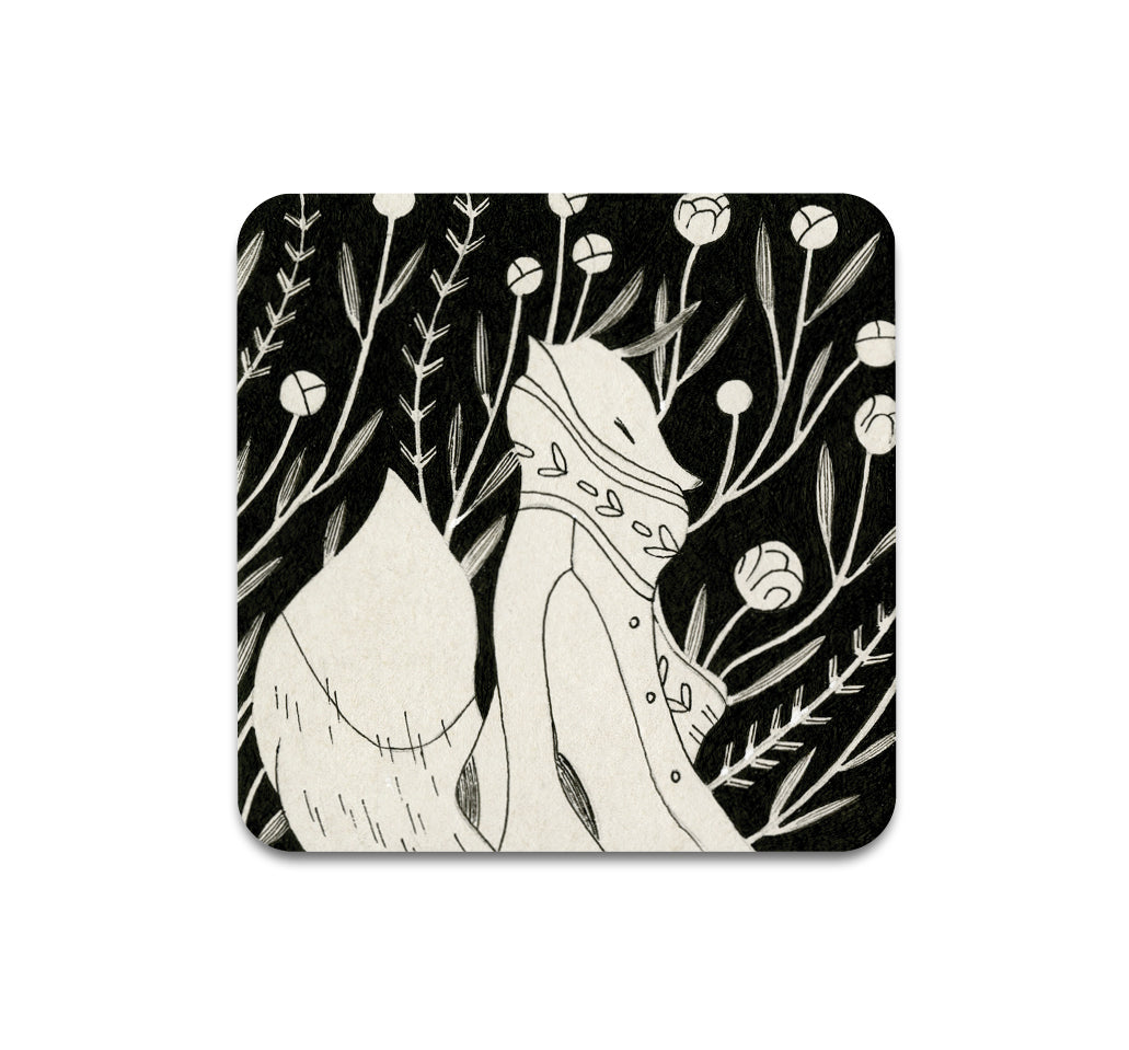 S3 Vanessa Gillings - Floral Fox 3 Coaster