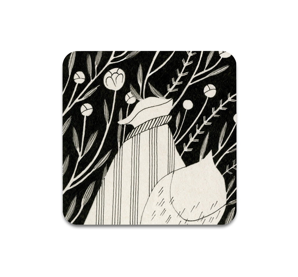 S3 Vanessa Gillings - Floral Fox 4 Coaster