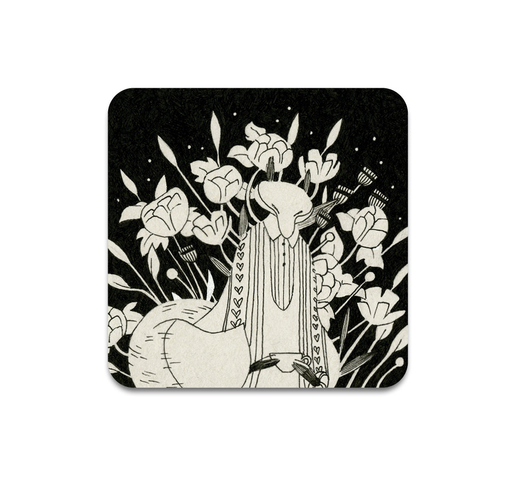 S3 Vanessa Gillings - Floral Fox 6 Coaster