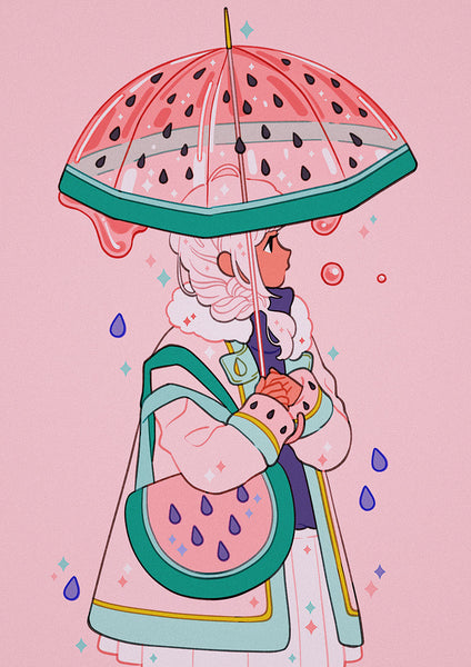 Meyoco - Watermelon Umbrella Print