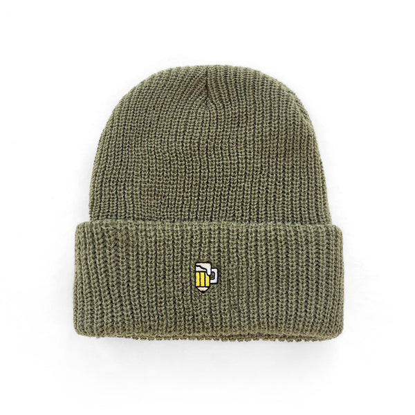 Drink and Draw Watch Cap - Army Green