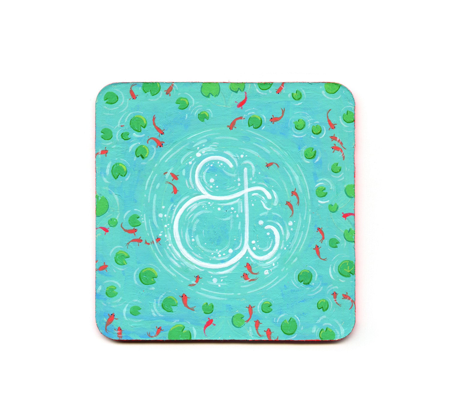 Xian Qing Chen - Ampersand in a Pond Coaster