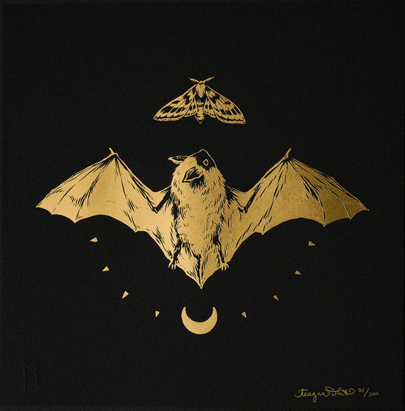Teagan White - Blōtą (Blow) - Bat Gold Foil