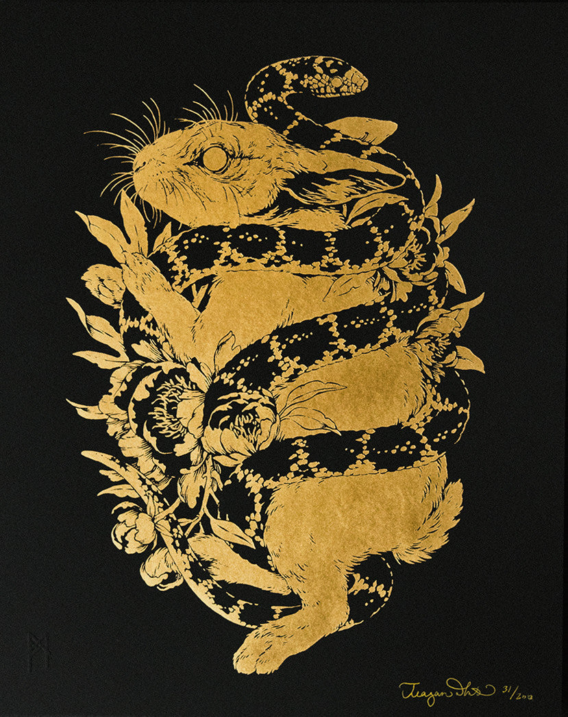 Teagan White - Blōtą (Blow) - Rabbit & Snake Gold Foil