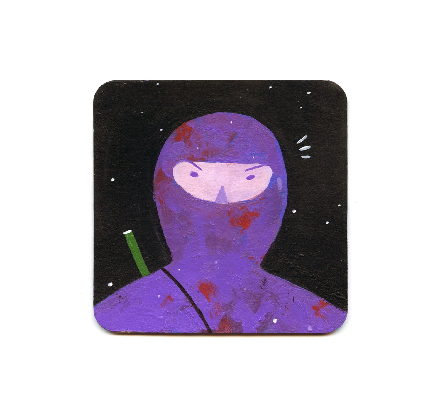 S2 Christian Leon Guerrero - Purple Ninja Coaster