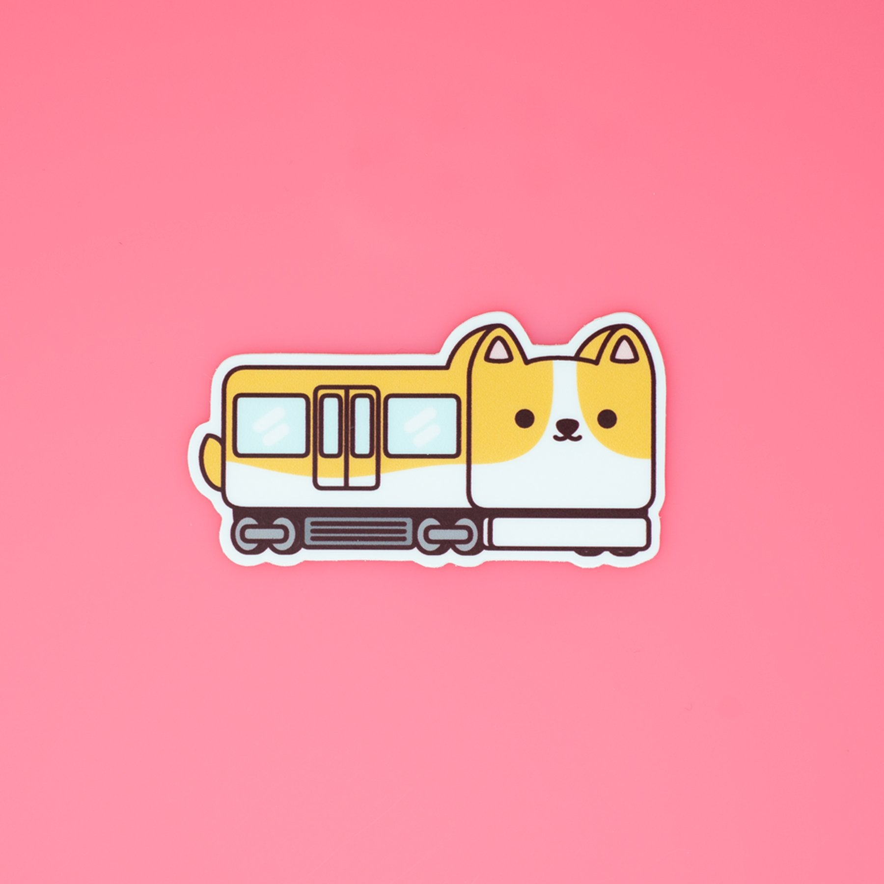 Corgi Train Sticker