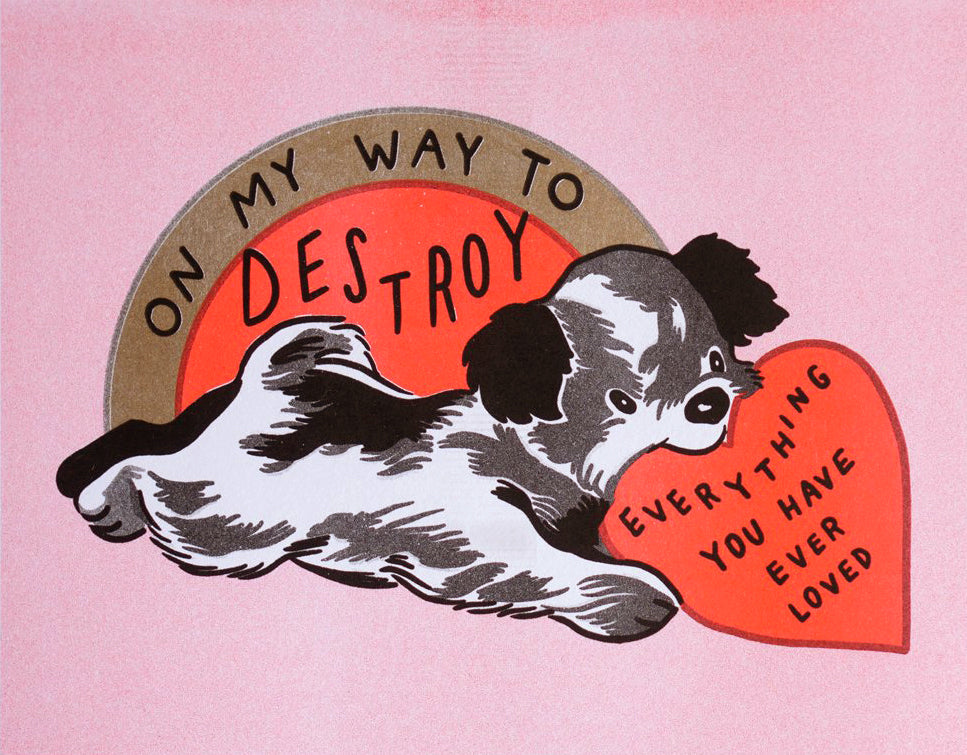 Olivia Mew - On My Way Risograph Print