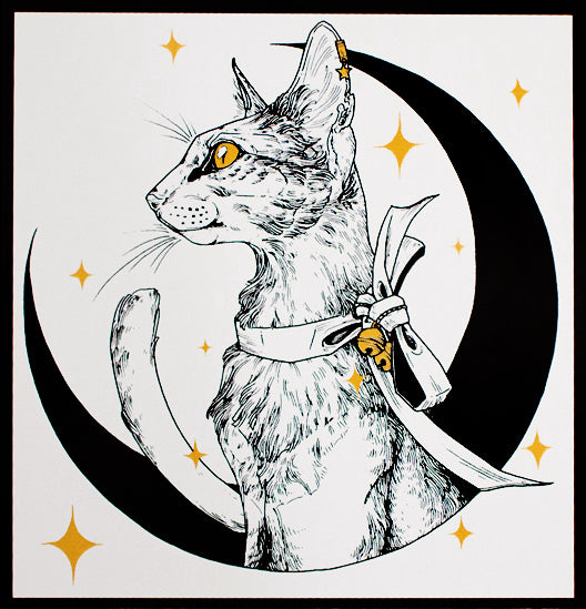 Erica Williams - Lunar Cat Print