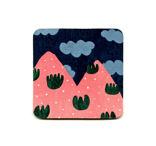 S1 Jennifer Bouron - Pink Mountains Coaster