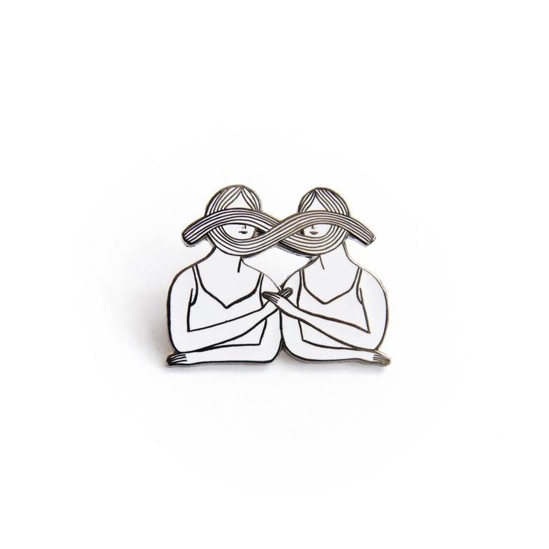 Kaye Blegvad - Eternal Sisterhood Pin (White & Black)