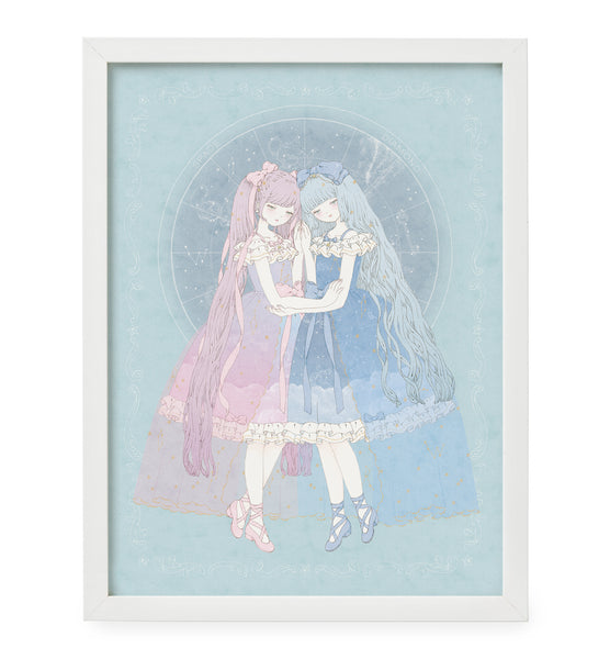 Kira Imai - Night Sky of Wonderland Framed Print