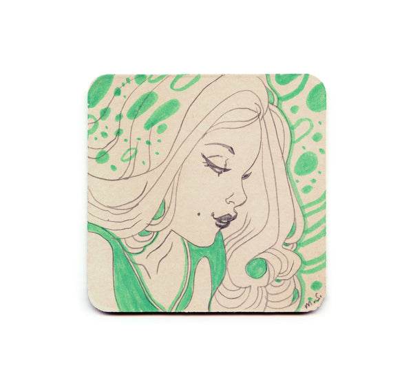 S1 Marguerite Sauvage - Green Coaster