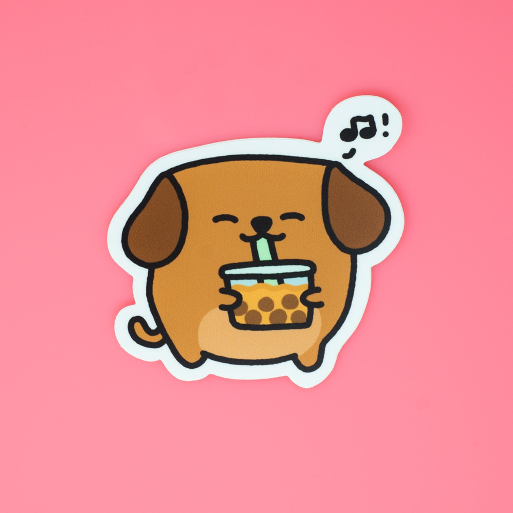 Boba Dog Sticker