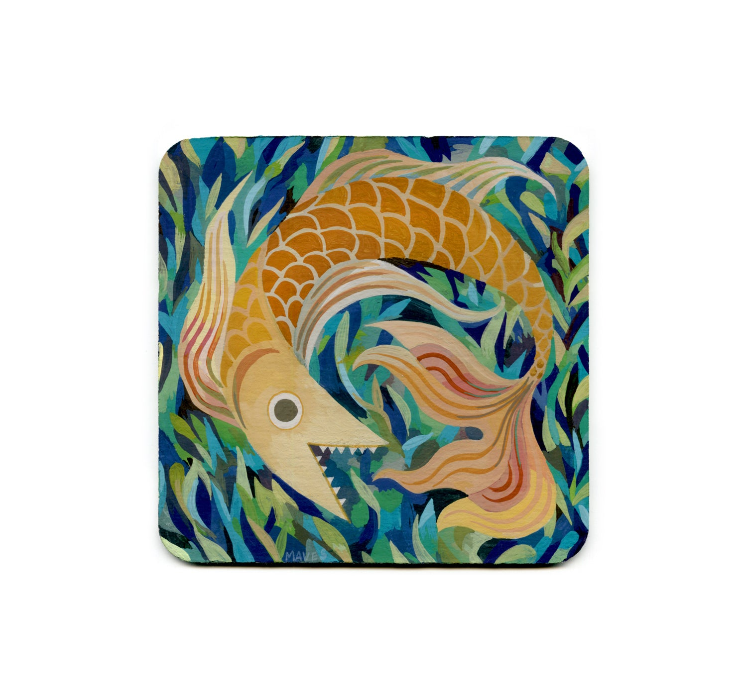Rachel Maves - The Lauging Fish Coaster