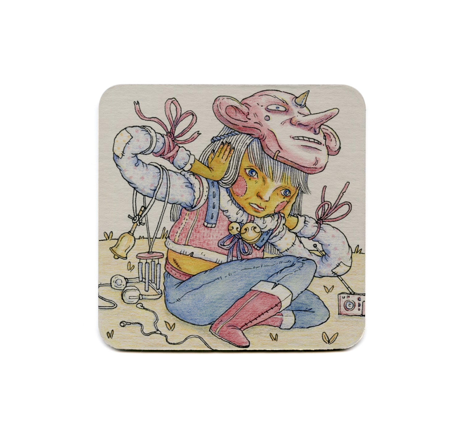 S2 Shinyeon Moon - Hear No Evil Coaster
